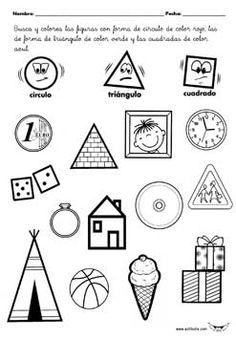 Actividades imprimibles geometría Preschool Curriculum, Preschool Lessons, Preschool Math, Kindergarten Worksheets, Classroom Activities, Shapes Worksheets, Christian School, Guided Math, Play To Learn