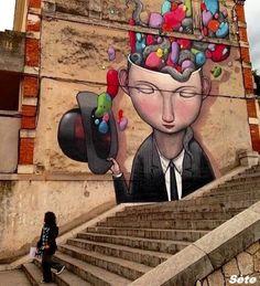 Peintures sur façade - Sète
