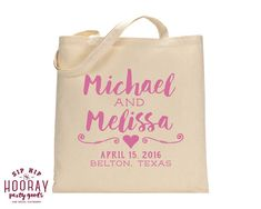 Welcome Bags Personalized Tote Bags Wedding Tote Bags Welcome Favor Totes Wedding Favors Custom Cotton Totes Monogrammed Bags 1573 by SipHipHooray
