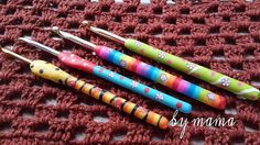 The thickness of the crochet handles helps crocheters hold the hook with less discomfort, especially if you're having bigger hands. Here's one of the easy solution. Check out how to make a polymer clay crochet hook handle.