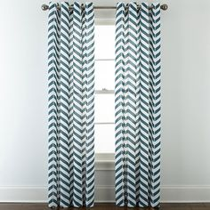 JCPenney Home™ Cotton Classics Broken Chevron Grommet-Top Curtain Panel - JCPenney