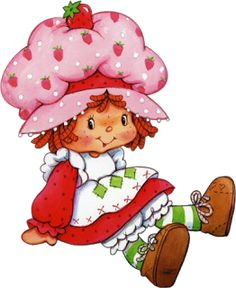 Strawberry Shortcake is a bright and energetic little girl with red hair and freckles with a big, adorable smile, said to be about six years old. Strawberry is kind, resourceful, and always ready to help a friend in need. Strawberry Shortcake Characters, Strawberry Shortcake Birthday, Vintage Strawberry Shortcake, Strawberry Shortcake Pictures, Sarah Kay, Image Clipart, Dibujos Cute, Rainbow Brite, Holly Hobbie