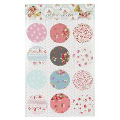 Stickers ronds imprimés fleurettes - Lot de 12