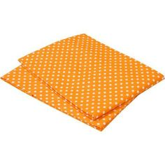Bacati - MixNMatch Pin Dots Crib/Toddler Bed Sheets 100% Cotton Percale, Orange, 2-Pack