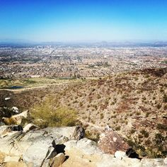 Hiking South Mountain- Phoenix, AZ. Enjoy just sitting up there, admiring the view...peace, quiet, and feeling free.