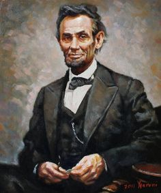Abraham Lincoln by Ylli Haruni {c.2011} ~ oil on canvas