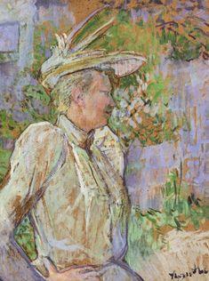 Gabrielle the Dancer Artist: Henri de Toulouse-Lautrec Completion Date: 1890 Style: Post-Impressionism Genre: portrait Technique: oil Material: cardboard Gallery: Musee Toulouse Lautrec Tags: female-portraits
