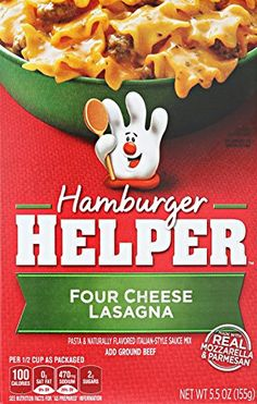 Betty Crocker Dry Meals  Hamburger Helper Italian Four Cheese Lasagna 55 Ounce *** Want to know more, click on the image. (Note:Amazon affiliate link)