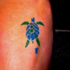 Turtle glitter tattoo by Little Lionhearts Glitter Tattoos, Make Up Art, Body Piercings, Tortoises, Body Modifications, Turtles, Tattos, Creative Art, Watercolor Tattoo