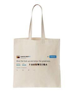 kanye west tote bag by Coolandthebag on Etsy
