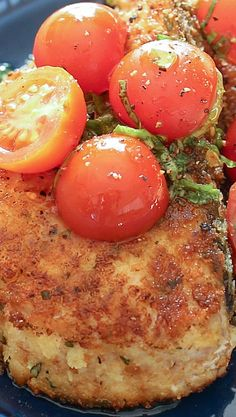 Basil Crusted Swordfish with Sweet and Spicy Marinated Tomatoes