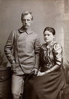 Fridtjof Nansen (1861-1930) and wife Eva (1858-1907)