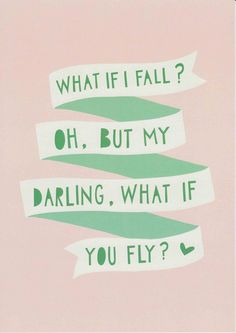 What If I Fall? Oh My Darling What If You Fly? Print Inspirational Quote Motivational Art Graduation Gift Daughter Gift Girls Room Wall Art A sweet quote for a teenage girl that is going off to college, graduating or flying the nest to let her know that she is going to do just brilliantly. WHAT IF I FALL? OH, BUT MY DARLING WHAT IF YOU FLY? Nursery Wall Art Dream Big Bright Pink Girls Room Print New Baby Gift Pink Art Pink Girls Room Decor Girls Print Fuscia Nursery Print DREAM BIG ♥ ➕