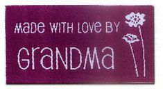 Sewing Labels Made With Love by Grandma by GabbysQuiltsNSupply
