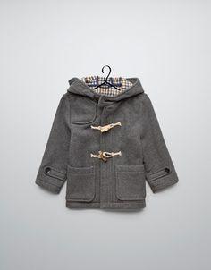 wool duffle coat - Coats - Baby boy (3-36 months) - Kids - ZARA