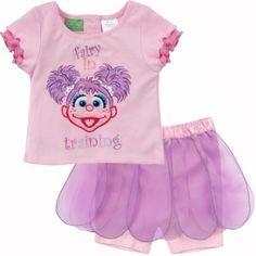 Sesame Street Abby Cadabby Fairy in Training 2pc Set - Shirt and Tutu Shorts $17.95