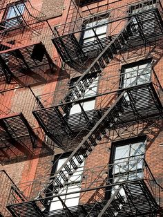 Fire Escape: A Fire Escape Is A Metal Staircase On The Exterior Of A  Building