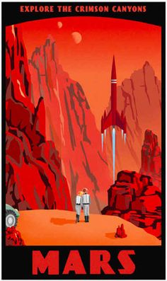 #ikleesdewereld en daarbuiten 14 Cool Retro Sci-Fi Travel Posters - BuzzFeed Mobile