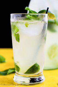 Not too sweet, yet refreshing, classic mojito with subtle coconut flavor is perfect on any hot summer day!