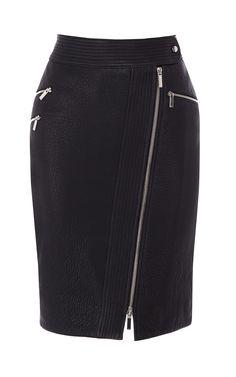 Zip leather pencil skirt | Luxury Women's shop_all | Karen Millen