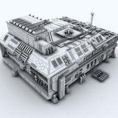 Sci-fi Factory 3D Model - CGTrader.com