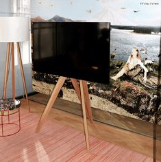 Front Row Wooden Tripod TV Stands From Roomours Tv Stand Tripod, Media Cabinet, Screen Shot, Front Row, The Row, Monitor, Tv Stands, Elegant, Tvs