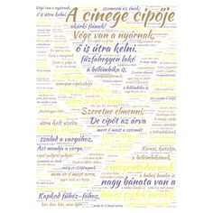 A cinege cipője word cloud art