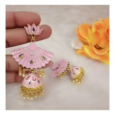 Indian Jewelry Earrings, Jewelery, Crochet Earrings, Ear Rings, Pastel, Wallpapers, Accessories, Makeup, Room