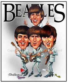 The Beatles Limited Edition Celebrity Caricature Art Print by Don Howard