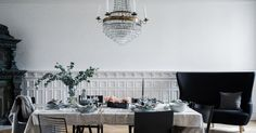Swedish apartment of high aesthetic and personality