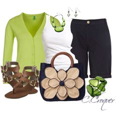Green, created by ccroquer on Polyvore