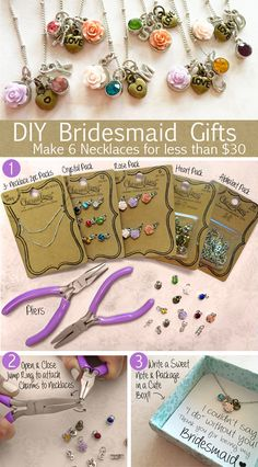 DIY Monogram Necklace Bridesmaid Gifts - Personalized Jewelry