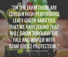 Discover the varieties by reading the article - Growing a Cool Season Garden in Zones 5-6