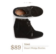 Toms Desert Wedge Bootie | XO Kerry May @stitchfix review