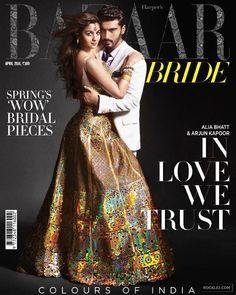 Arjun Kapoor Alia Bhatt Photoshoot for Harper's Bazaar India April 2014