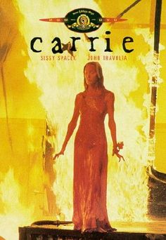 Carrie horror poster - A mousy and abused girl with telekinetic powers gets pushed too far on one special night.