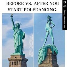 Before vs. After you start pole dancing.