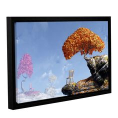 ArtWall 'Cynthia Decker's Leaf Peepers' Gallery Wrapped Floater-framed Canvas