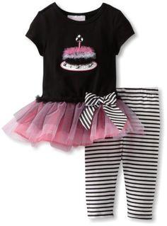 Bonnie Baby Girls Infant Black and Pink Birthday Legging Set, Black, 12 Months Bonnie Baby, http://www.amazon.com/dp/B009UOWE7O/ref=cm_sw_r_pi_dp_yh1arb187TDVB
