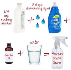DIY: Homemade Granite Cleaner - One Good Thing by Jillee