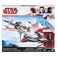 Star Wars The Last Jedi Resistance Ski Speeder Toy Vehicle Captain Poe Dameron  #StarWars