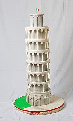 Leaning Tower Of Pisa Cake Topper