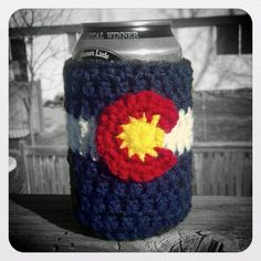 Hey, I found this really awesome Etsy listing at http://www.etsy.com/listing/106602623/colorado-flag-crochet-beer-or-soda-can