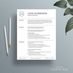Resume Template / 4 Page CV Template  @creativework247