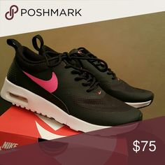 Nike Air Max Thea Black/Hyper Pink-White Nike Shoes Athletic Shoes