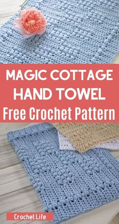 Make this simple but gorgeous crochet hand towel with a simple to follow pattern in just a few short hours! This free crochet hand towel pattern is a perfect addition to your project basket! #CrochetPattern #FreeCrochetPattern #CrochetHandTowelPattern #Crocheting #CrochetLife Easy Crochet Patterns, Crochet Stitches, Free Crochet, Crochet Hats, Easy Diy Crafts, Crafts To Make, Crochet Kitchen Towels, Crochet Dishcloths, Half Double Crochet