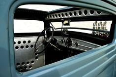 Interior Rat Rod Cars, Hot Rod Trucks, Custom Car Interior, Truck Interior, Bomber Seats, Sheet Metal Work, Metal Shaping, Automobile, Us Cars