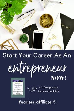 Start Your Career as an Entrepreneur Now! by Fearless Affiliate. There is no better time to start an online business and create income. I give you plenty of ideas to get your creative juices flowing. Use your imagination and my ideas to come up with a winning side hustle or full time income idea. #makemoneyonline #marketing #sidehustle #startablog