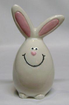 Funny Bunny Pie Bird Vent by JN Ceramics