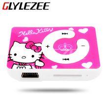 Glylezee Hello Kitty MP3 prehrávač s 5 farieb plastového Cartoon Prenosný prehrávač MP3 prehrávač (Čína (pevninská časť))